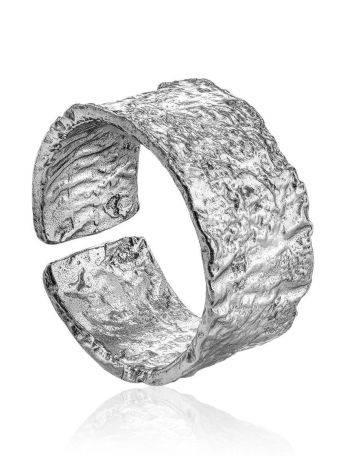 Antiqued finish stylish silver ring, image