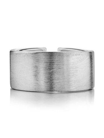 Contemporary brush finish sterling silver unisex ring, image , picture 3