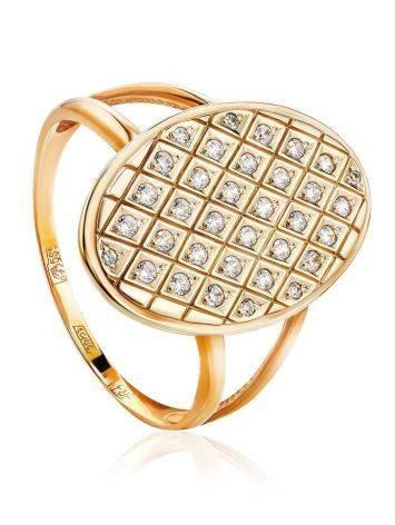 Crystal Encrusted Gold Ring, Ring Size: 11.5 / 21, image