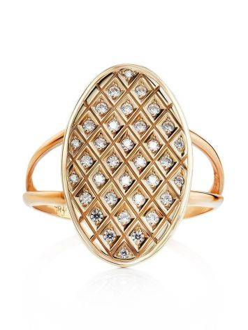 Crystal Encrusted Gold Ring, Ring Size: 11.5 / 21, image , picture 3