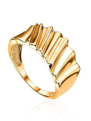 Extraordinary Gold Plated Band Ring, Ring Size: 6.5 / 17, image