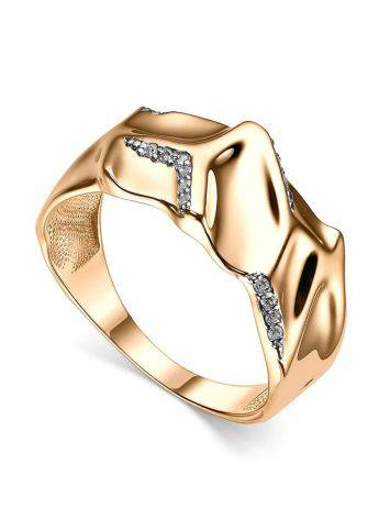 Fabulous Gold Plated Band Ring, Ring Size: 6.5 / 17, image