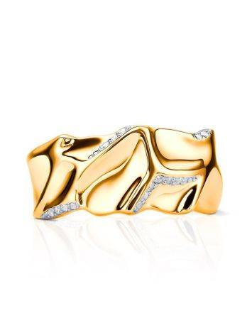 Fabulous Gold Plated Band Ring, Ring Size: 6.5 / 17, image , picture 4