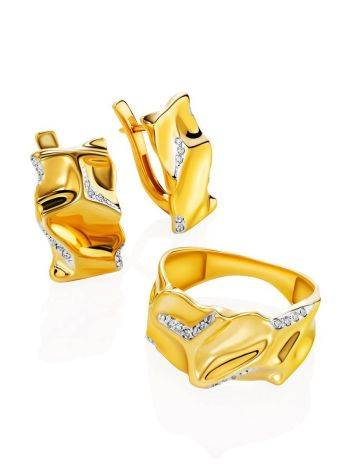 Fabulous Gold Plated Band Ring, Ring Size: 6.5 / 17, image , picture 5