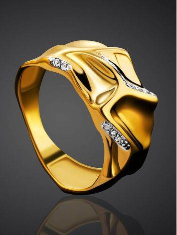 Fabulous Gold Plated Band Ring, Ring Size: 6.5 / 17, image , picture 2