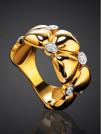 Bold Band Ring With Crystals, Ring Size: 6 / 16.5, image , picture 2