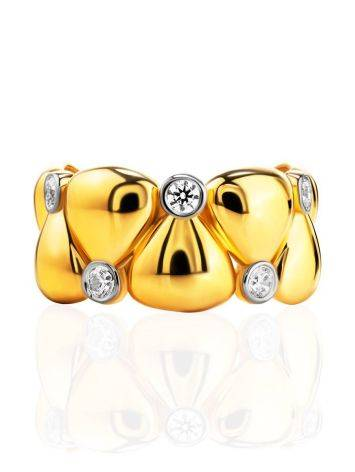 Bold Band Ring With Crystals, Ring Size: 6 / 16.5, image , picture 3