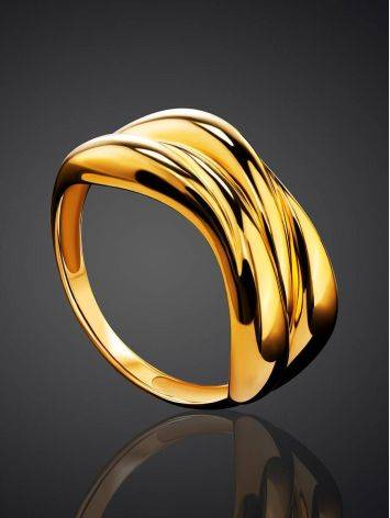 Bold Gold Plated Ring, Ring Size: 6 / 16.5, image , picture 2