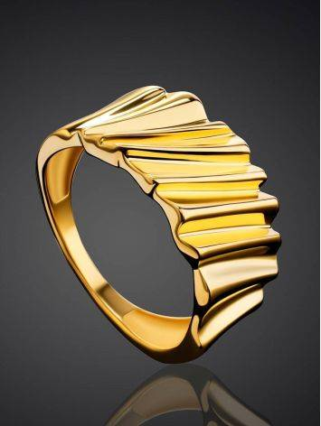 Extraordinary Gold Plated Band Ring, Ring Size: 6.5 / 17, image , picture 2