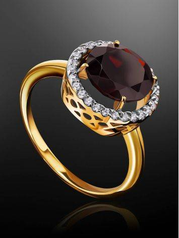 Amazing Garnet Ring With Crystals, Ring Size: 6 / 16.5, image , picture 2
