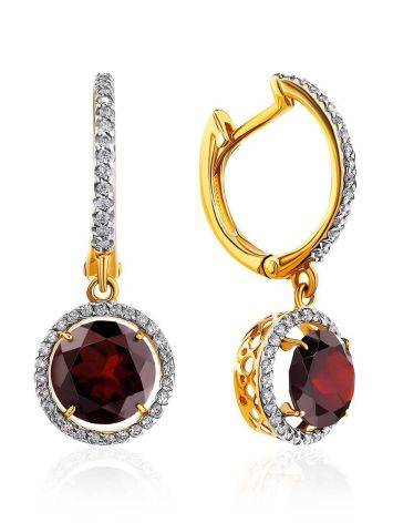 Bright Garnet Dangle Earrings, image