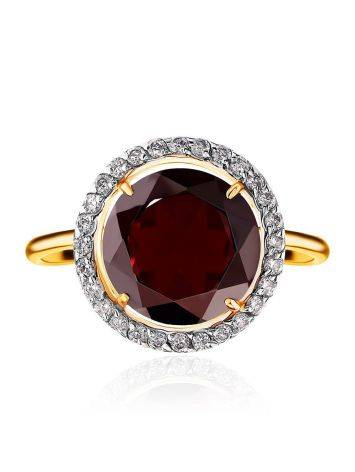 Amazing Garnet Ring With Crystals, Ring Size: 6 / 16.5, image , picture 3