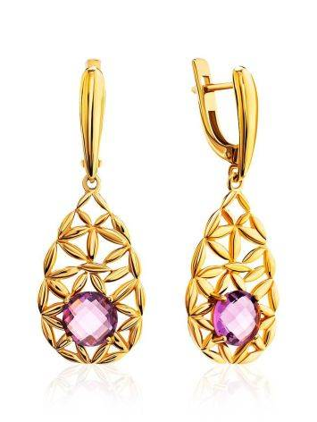 Fabulous Laced Dangles With Lilac Crystals, image