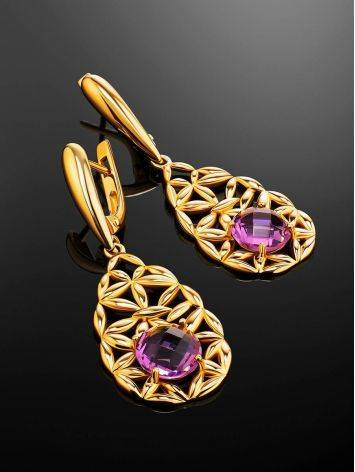 Fabulous Laced Dangles With Lilac Crystals, image , picture 2