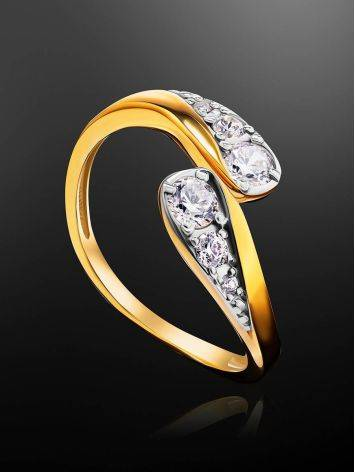 Feminine Open Ring With Crystals, Ring Size: 5.5 / 16, image , picture 2