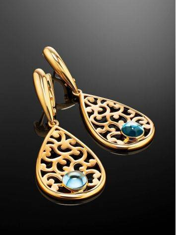 Filigree Dangles With Blue Crystals, image , picture 2