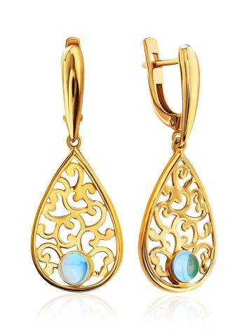 Filigree Dangles With Blue Crystals, image