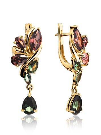 Amazing Dangle Earrings With Crystals, image
