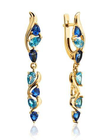 Exquisite Gold Plated Dangles With Crystals, image