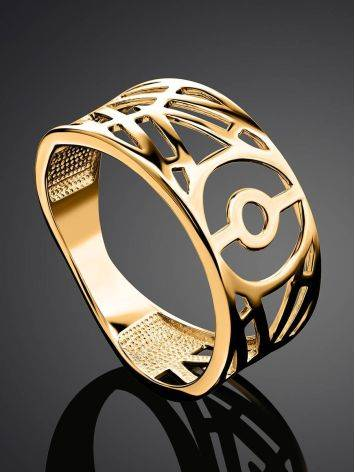 Amazing Geometric Band Ring, Ring Size: 6.5 / 17, image , picture 2