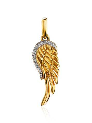 Gold Plated Wing Shaped Pendant, image