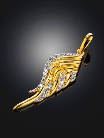 Gold Plated Wing Shaped Pendant, image , picture 2