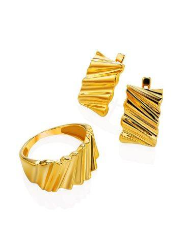 Extraordinary Gold Plated Band Ring, Ring Size: 6.5 / 17, image , picture 5