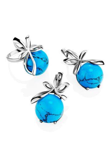 Silver Earrings With Bright Turquoise, image , picture 4