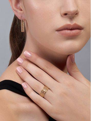 Geometric Gold Plated Earrings, image , picture 4
