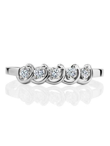 White Gold Diamond Ring, Ring Size: 6.5 / 17, image , picture 3