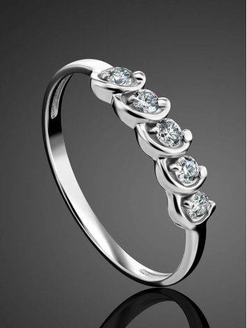 White Gold Diamond Ring, Ring Size: 6.5 / 17, image , picture 2